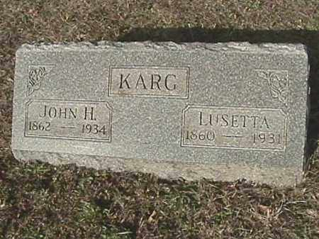 JENKINS KARG, LUSETTA - Champaign County, Ohio | LUSETTA JENKINS KARG - Ohio Gravestone Photos