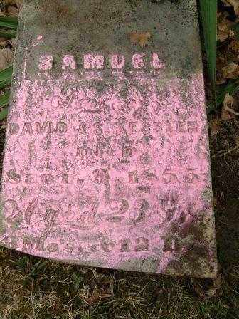 KESLER, SAMUEL - Champaign County, Ohio   SAMUEL KESLER - Ohio Gravestone Photos