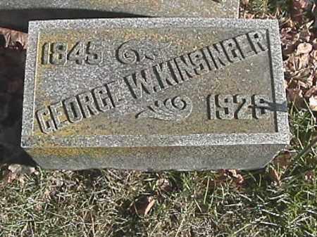 KINSINGER, GEORGE W. - Champaign County, Ohio | GEORGE W. KINSINGER - Ohio Gravestone Photos