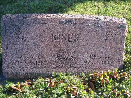 KISER, ALVA V. - Champaign County, Ohio | ALVA V. KISER - Ohio Gravestone Photos