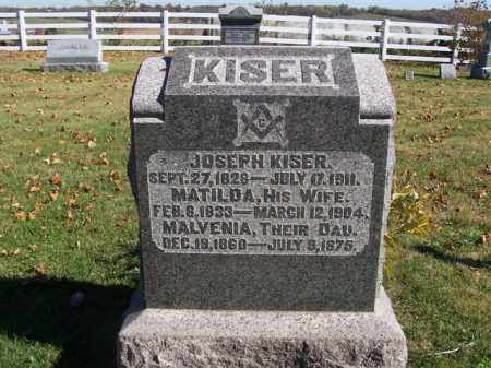 KISER, MATILDA A - Champaign County, Ohio | MATILDA A KISER - Ohio Gravestone Photos