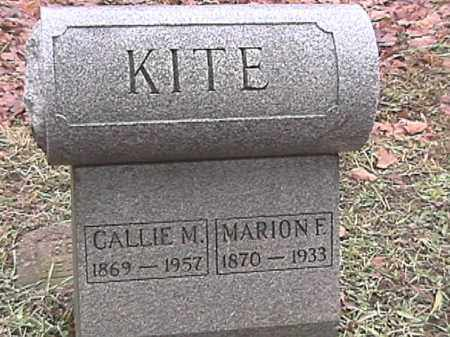 KITE, MARION F - Champaign County, Ohio | MARION F KITE - Ohio Gravestone Photos