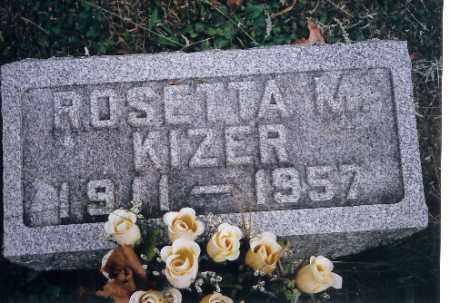 KIZER, ROSETTA M. - Champaign County, Ohio | ROSETTA M. KIZER - Ohio Gravestone Photos
