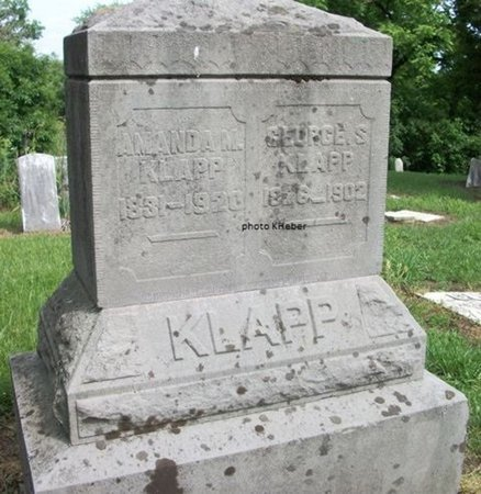 BRIGGS KLAPP, AMANDA - Champaign County, Ohio | AMANDA BRIGGS KLAPP - Ohio Gravestone Photos