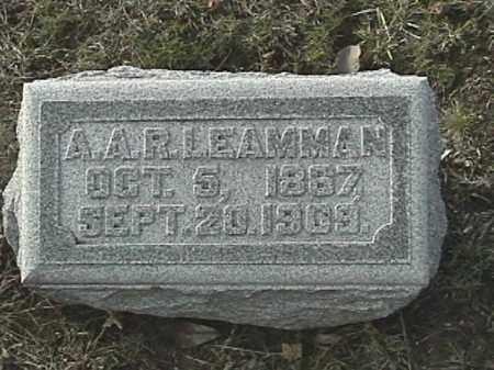 LEAMMAN, A.A.R. - Champaign County, Ohio | A.A.R. LEAMMAN - Ohio Gravestone Photos