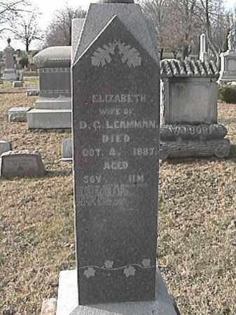 LEAMMAN, ELIZABETH - Champaign County, Ohio | ELIZABETH LEAMMAN - Ohio Gravestone Photos