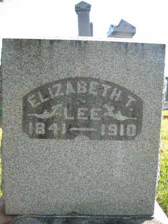 LEE, ELIZABETH T. - Champaign County, Ohio | ELIZABETH T. LEE - Ohio Gravestone Photos