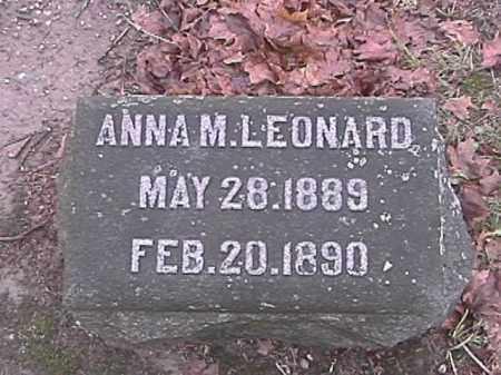 LEONARD, ANNA - Champaign County, Ohio | ANNA LEONARD - Ohio Gravestone Photos