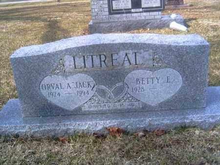 LITREAL, BETTY ELLEN - Champaign County, Ohio | BETTY ELLEN LITREAL - Ohio Gravestone Photos