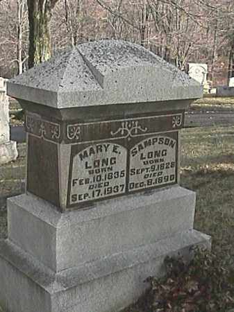 LONG, MARY E. - Champaign County, Ohio | MARY E. LONG - Ohio Gravestone Photos
