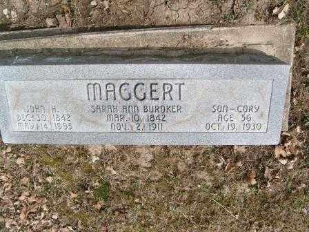 MAGGERT, SARAH ANN - Champaign County, Ohio | SARAH ANN MAGGERT - Ohio Gravestone Photos