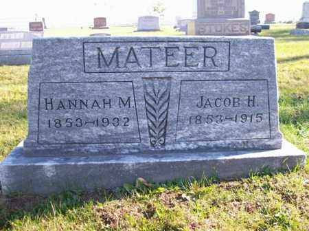 MATEER, JACOB H. - Champaign County, Ohio | JACOB H. MATEER - Ohio Gravestone Photos