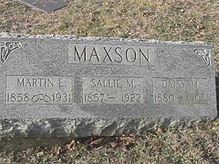 MAXSON, SALLIE M. - Champaign County, Ohio | SALLIE M. MAXSON - Ohio Gravestone Photos