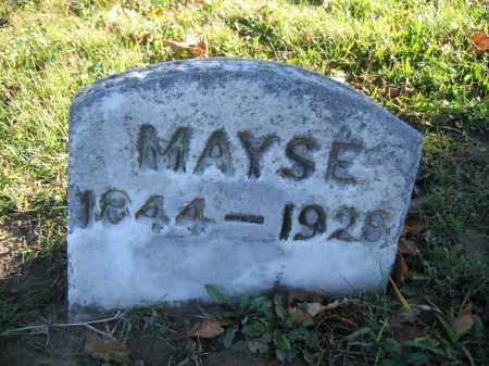 MAYSE, MARTHA A. - Champaign County, Ohio | MARTHA A. MAYSE - Ohio Gravestone Photos
