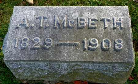 MCBETH, A. T. - Champaign County, Ohio | A. T. MCBETH - Ohio Gravestone Photos