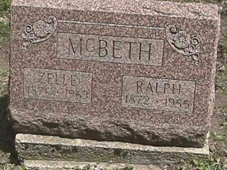 MCBETH, ZELLE - Champaign County, Ohio | ZELLE MCBETH - Ohio Gravestone Photos
