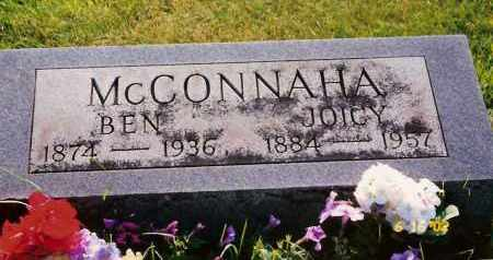 MCCONNAHA, JOICY PURK - Champaign County, Ohio | JOICY PURK MCCONNAHA - Ohio Gravestone Photos