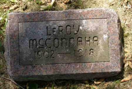 MCCONNAHA, LEROY - Champaign County, Ohio | LEROY MCCONNAHA - Ohio Gravestone Photos
