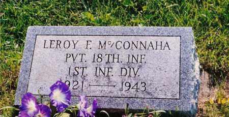 MCCONNAHA, LEROY F. - Champaign County, Ohio | LEROY F. MCCONNAHA - Ohio Gravestone Photos
