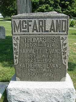 MCFARLAND, HARRIETT EVANS - Champaign County, Ohio | HARRIETT EVANS MCFARLAND - Ohio Gravestone Photos