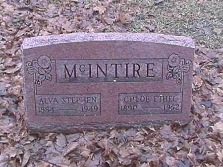 MCINTIRE, ALVA STEPHEN - Champaign County, Ohio | ALVA STEPHEN MCINTIRE - Ohio Gravestone Photos