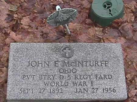MCINTURFF, JOHN E. - Champaign County, Ohio | JOHN E. MCINTURFF - Ohio Gravestone Photos