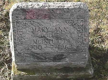 MCINTURFF, MARY ANN - Champaign County, Ohio | MARY ANN MCINTURFF - Ohio Gravestone Photos