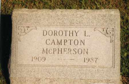 MCPHERSON, DOROTHY L. CAMPTON - Champaign County, Ohio | DOROTHY L. CAMPTON MCPHERSON - Ohio Gravestone Photos