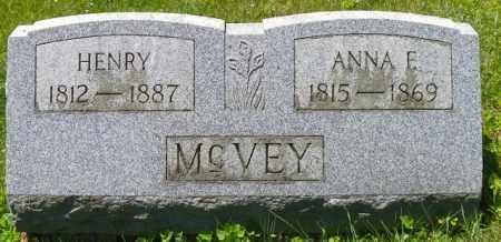 MCVEY, ANNA E. - Champaign County, Ohio | ANNA E. MCVEY - Ohio Gravestone Photos