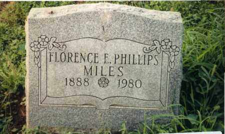 MILES, FLORENCE F. - Champaign County, Ohio | FLORENCE F. MILES - Ohio Gravestone Photos