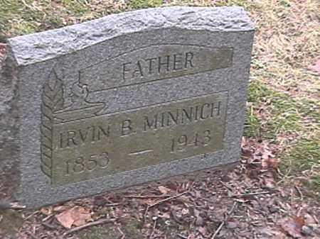 MINNICH, IRVIN B. - Champaign County, Ohio | IRVIN B. MINNICH - Ohio Gravestone Photos