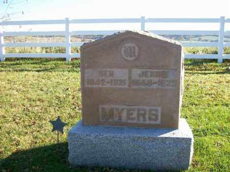MYERS, BEN - Champaign County, Ohio | BEN MYERS - Ohio Gravestone Photos