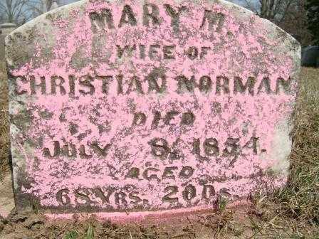 NORMAN, MARY M. - Champaign County, Ohio | MARY M. NORMAN - Ohio Gravestone Photos