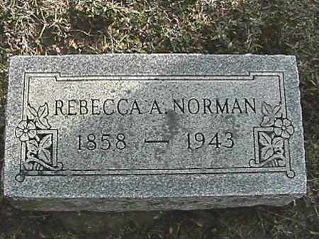 NORMAN, REBECCA A. - Champaign County, Ohio | REBECCA A. NORMAN - Ohio Gravestone Photos