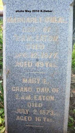 EATON O'NEAL, MARGARET - Champaign County, Ohio   MARGARET EATON O'NEAL - Ohio Gravestone Photos