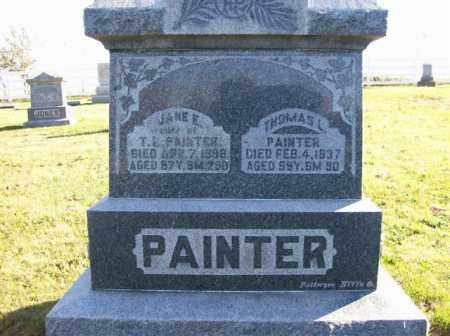 PAINTER, JANE - Champaign County, Ohio | JANE PAINTER - Ohio Gravestone Photos