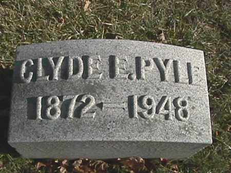 PYLE, CLYDE E. - Champaign County, Ohio | CLYDE E. PYLE - Ohio Gravestone Photos