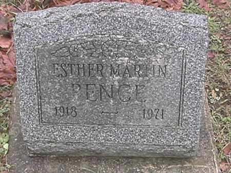 PENCE, ESTHER MARTIN - Champaign County, Ohio | ESTHER MARTIN PENCE - Ohio Gravestone Photos