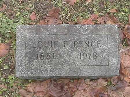 PENCE, LOUIE E. - Champaign County, Ohio | LOUIE E. PENCE - Ohio Gravestone Photos