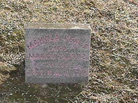 PENCE, MAHALA - Champaign County, Ohio | MAHALA PENCE - Ohio Gravestone Photos