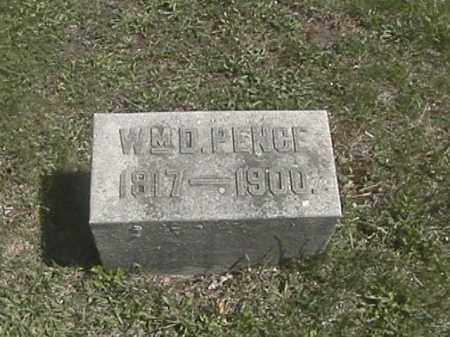 PENCE, WILLIAM DANIEL - Champaign County, Ohio | WILLIAM DANIEL PENCE - Ohio Gravestone Photos
