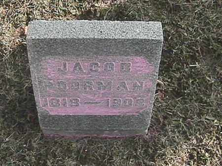 POORMAN, JACOB - Champaign County, Ohio | JACOB POORMAN - Ohio Gravestone Photos
