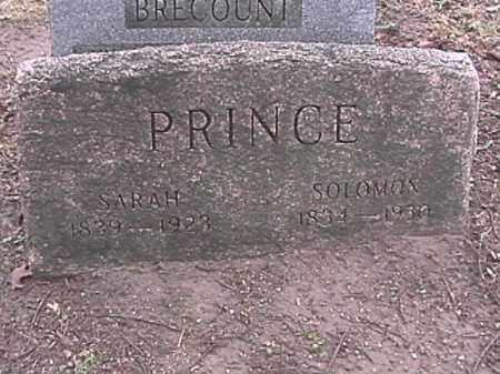 PRINCE, SARAH BROWN - Champaign County, Ohio | SARAH BROWN PRINCE - Ohio Gravestone Photos