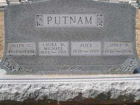 PUTMAN, LAURA M. MICHAEL - Champaign County, Ohio | LAURA M. MICHAEL PUTMAN - Ohio Gravestone Photos