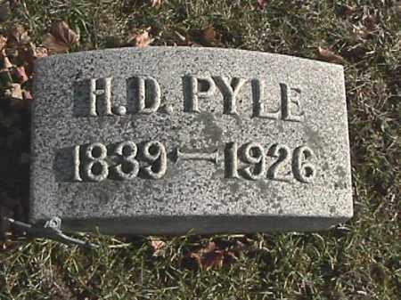 PYLE, HEZEKIAH D. - Champaign County, Ohio | HEZEKIAH D. PYLE - Ohio Gravestone Photos