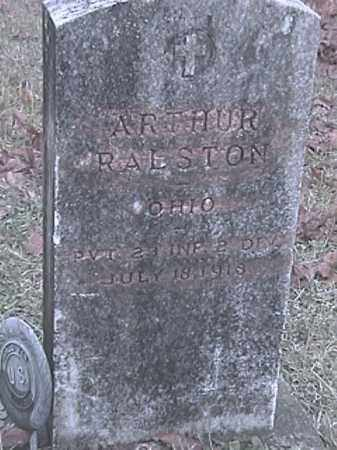 RALSTON, ARTHUR - Champaign County, Ohio | ARTHUR RALSTON - Ohio Gravestone Photos