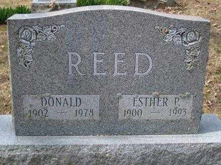 REED, ESTHER P. - Champaign County, Ohio | ESTHER P. REED - Ohio Gravestone Photos