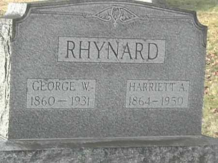 RHYNARD, GEORGE W. - Champaign County, Ohio | GEORGE W. RHYNARD - Ohio Gravestone Photos