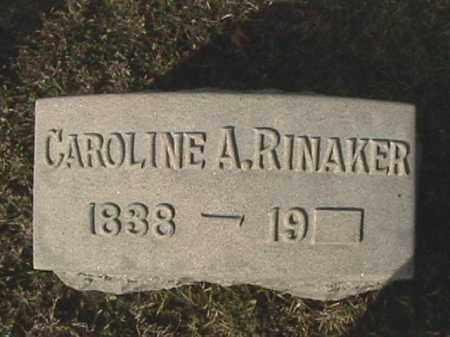 RINAKER, CAROLINE A. - Champaign County, Ohio | CAROLINE A. RINAKER - Ohio Gravestone Photos