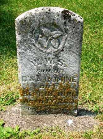 ROMINE, W.W.S. - Champaign County, Ohio | W.W.S. ROMINE - Ohio Gravestone Photos
